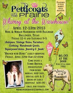 Spring show of Petticoats-April 12-13th in Ballinger, Texas!
