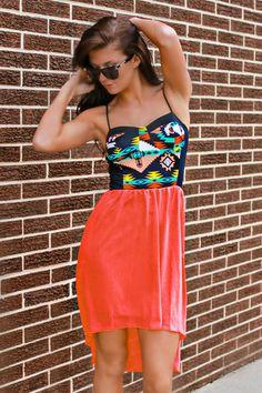 Neon Navajo Hi-low Dress - UOIONLINE.COM