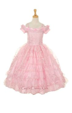 New Girls Princess Pink Dress - Tea Length
