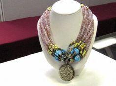185: One of a kind necklace from designer Masha Archer : Lot 185