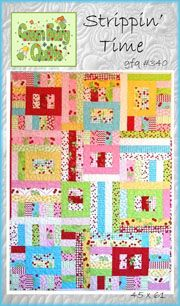 Strippin' Time Jelly Roll Quilt Pattern