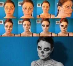 Skeleton Makeup - Halloween