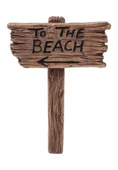 Fairy Garden Ornament beach sign by Vivid Arts