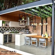 Pin on My future home Outdoor Kitchen Patio, Outdoor Kitchen Design, Outdoor Rooms, Kitchen Decor, Dirty Kitchen Design, Dirty Kitchen Ideas, Outdoor Decor, Backyard Patio Designs, Small Backyard Patio
