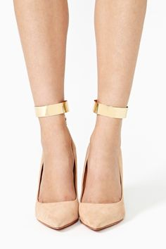 Break My Stride Ankle Cuffs in Gold by #8OtherReasons