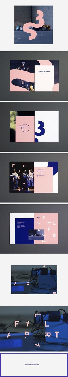 3SOMESISTERS on Behance creative unique graphic design #branding