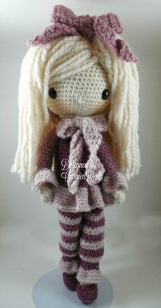 Febrero muñeca Amigurumi Crochet patrón por CarmenRent en Etsy