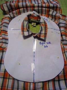 tutorial for making baby bibs from old shirts