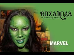 RoxaRosa Face Paint Tutorial Guardians Of The Galaxy - Gamora