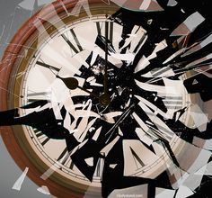 Time Shattered! I created this image of a shattering wall clock to illustrate a wide variety of concepts centered around time. For Blend Images. www.johnlund.com