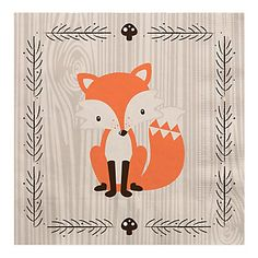 Woodland Creatures - Baby Shower Luncheon Napkins - BabyShowerStuff.com