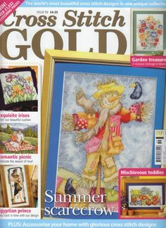 Cross Stitch Gold UK Magazine 2008 Issue 8 by TheHowlingHag Cross Stitch Tree, Cross Stitch Books, Just Cross Stitch, Beaded Cross Stitch, Cross Stitch Flowers, Cross Stitch Charts, Cross Stitch Designs, Cross Stitch Embroidery, Cross Stitch Patterns