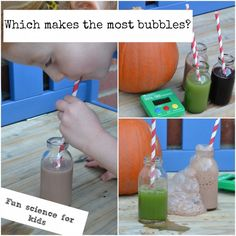 Test different drinks to see which make the best bubbles and find out why. Great for practising experimental design. Bubble Activities, Science Activities For Kids, Cool Science Experiments, Easy Science, Science Fair Projects, Preschool Science, Elementary Science, Science Week, Science Ideas
