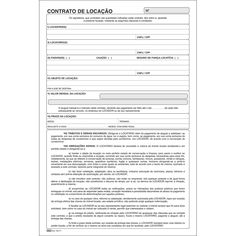 Contrato de Locação - 100 Folhas - TILIBRA - Escritório, Impressos - Tilibra