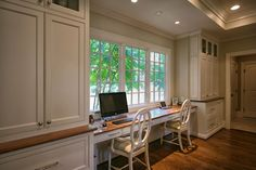 From custom built-in cabinets to built-in desks everyone loves the kitchen!  Kitchens are now the hub of the home!