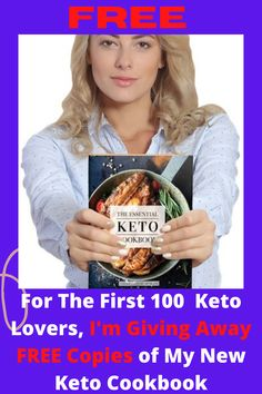 I'm giving away FREE copies of my latest cookbook for the first 100 Keto lovers. Enjoy this Bread Plus 100 + Other Tasty Keto Recipes! The Indispensable Keto cookbook of more than 100 Keto recipes for tea, salads, entertainments, sweets, beverages and snacks. Net carbohydrate, fat , protein and calorie count for-recipe. Enjoy the Fluffy Breakfast Porridge, Buffalo Wings, Mini Burgers, Cornbread Jalapeño, Tacos Chicken, Shrimp Popcorn, and many more recipes. #keto #ketodiet #ketodiet..