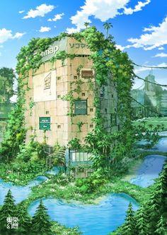 Ilustraciones de Japón post-apocalíptico | Undermatic