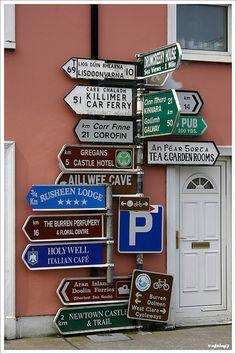 Photo about Massive amount of roadsigns in Ireland. Image of burren, roadsigns, gaelic - 353702 Love Ireland, Ireland Travel, Funny Road Signs, And So It Begins, Irish Roots, England, Irish Eyes, Emerald Isle, Luck Of The Irish