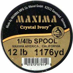 Maxima Crystal Ivory Guide Spools, 1176 yds, 12 lb