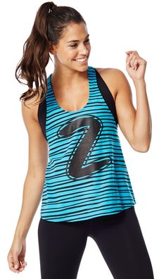 Let Loose Striped Racerback | Zumba Fitness Shop