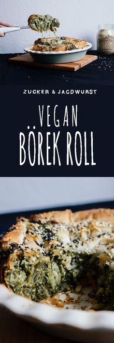 Vegan Börek Roll with Spinach-Artichoke-Cream