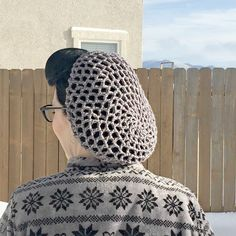 Grey Winter Snood with Silver Detail by LaceyRoseCreations on Etsy