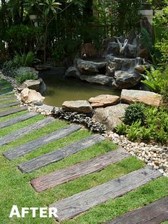 New Thai Garden Pond, Planting and Pathway - Thai Garden Design - The Thai Landscaping Experts