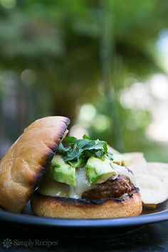 Chipotle Burger ~ Perfect grilled beef burger seasoned with smoky chipotle chiles. Great for a summer cookout! On SimplyRecipes.com