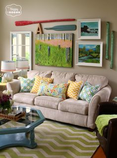 10 Spring Changes in the Living Room at thehappyhousie