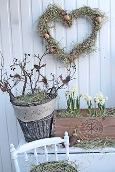 Natural, simple and beautiful Easter decor by VIBEKE DESIGN