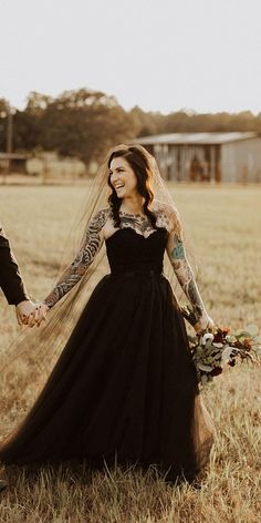33 Beautiful Black Wedding Dresses That Will Strike Your Fancy ❤ black wedding dresses a line sweetheart strapless neckline country kaylanicolephoto . ❤ #weddingdresses Fancy Wedding Dresses, Sweetheart Wedding Dress, Wedding Dress Shopping, Princess Wedding Dresses, Boho Wedding Dress, Wedding Dress Styles, Wedding Bride, Dream Wedding, Ball Dresses