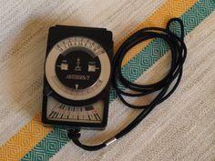 Light meter Analog handheld selenium based exposure meter Vintage camera accessories Photographer gift Vintage gift ideas for him