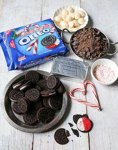 Oreo peppermint bark #CookieBalls  // No-bake bite sized holiday dessert