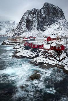 Hamnoy, Lofoten, Norway #norway #noruega. My great grandparents came Mo I Rana & would love to visit.