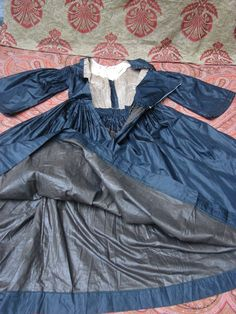 Authentic Antique Civil War 1860s Mourning Dress Black Silk Pagoda Sleeve RARE | eBay
