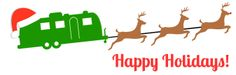 Happy Holidays from Happy Camper Counseling! ©Happy Camper Counseling #Airstream #Holiday