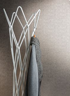 Metallic gold acoustic wallpaper by Woven Image - made from 60% recycled plastic bottles MURA HAKU