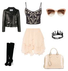 """Sin título #367"" by jocelin-cra on Polyvore featuring moda, Chloé, Louis Vuitton, Alexander McQueen, Acne Studios y Oliver Peoples"