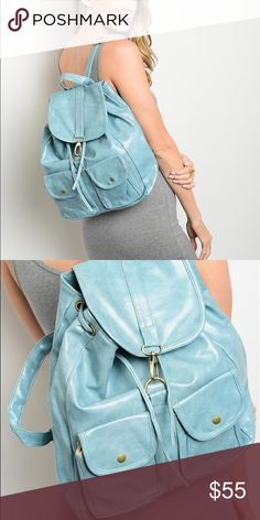 LAST ONE!!! Georgous Blue Vintage Backpack BRAND NEW! Boutique Bags Backpacks