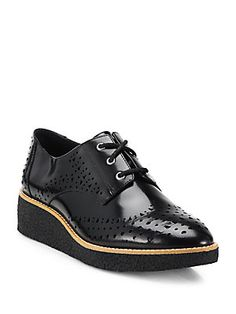 Rebecca Minkoff Pandora Leather Wedge Oxfords