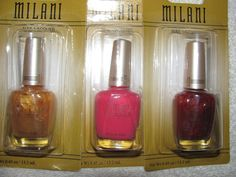 'BNWT Milani Nail Lacquers Set of 3' is going up for auction at  8am Fri, Sep 27 with a starting bid of $4.