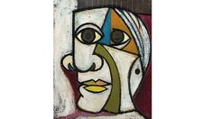 View Portrait de Pablo Picasso by Dora Maar on artnet. Browse upcoming and past auction lots by Dora Maar. Kunst Picasso, Art Picasso, Picasso Paintings, Picasso Collage, Picasso Self Portrait, Picasso Style, Collage Art, Dora Maar, Georges Braque