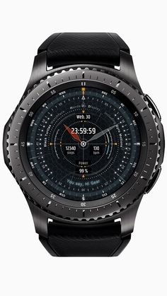 Go to Samsung Apps : –  12h Analog clock 24h Digital clock Battery percent Step Count Date display Heart rate display Gyro Motion Always on Display