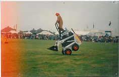 H.E Services dancing diggers stunt team.