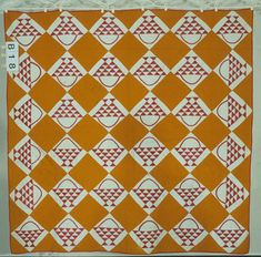 Hanging Basket  1890-1925  I just love basket quilts!