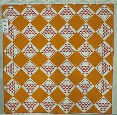 Hanging Basket quilt  1890-1925