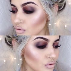 Not a fan of the conturing or the lip overline. The eye makeup is pretty but doesn't meet the original description of 'grunge'.