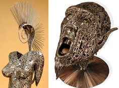 Crafted Recycled Metal Sculptures by Brian Mock