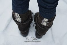 Boot Socks  Lace Boot Socks Brown Boot Socks with by TheSimplePark, $29.00