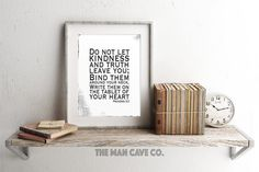 black and white wall art scripture printable art proverbs 3 3 gift idea for him manly wall art decor manly office decor bible verse for him